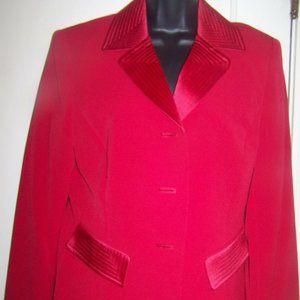 Evan-Picone  Blazer & Skirt Suit Red 10